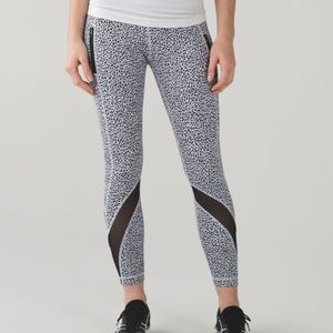 Lululemon Inspire Ankle Tight II Miss Mosaic White